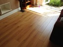 Laminate flooring installed.