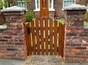 Slatted garden gate arch top